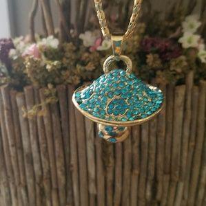 Mushroom fantasy necklace Bling